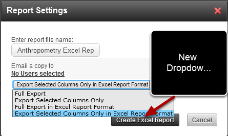 "Click on Excel (top right) and then select ""Export in Excel Report Format"" the Data in the same format as the Excel Report that you are going to update"