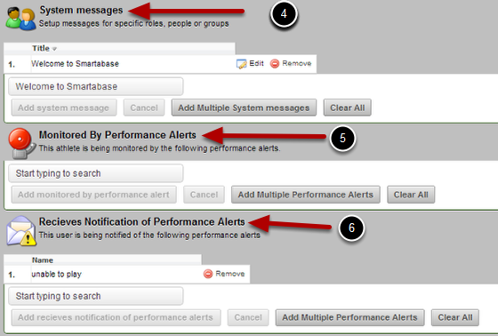 The Messages and Performance Alerts are listed next