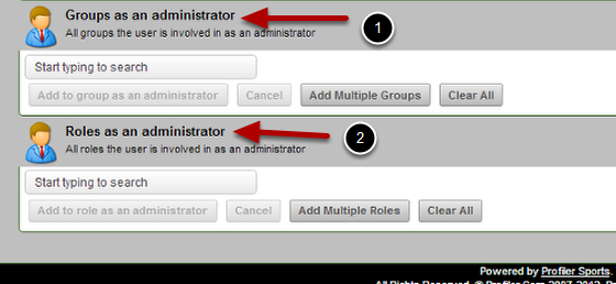 Lastly, the Coach- Admin Permissions are listed. These are ONLY used for the Coach-Admin licence, not for the Administrator licence