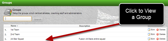 The layout of the Permissions and Access has been updated when you view a Group.