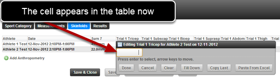 Now when you enter in data in Group Entry Mode, the cell data entry position will always stay in the Group Entry Table.