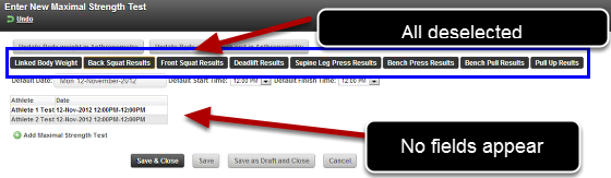 If you deselect ALL of the Section Tabs all of the Fields will be hidden.