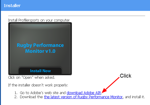 8.0 Install Didn't Work? Download the Adobe Air Program