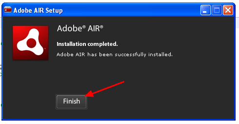 """8.3 A pop up window will tell you when it has installed correctly. Click """"Finish"""""""