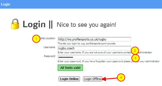 """7.0 Login """"Off-line"""""""