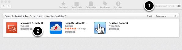 Buy Microsoft Remote Desktop App from the App Store