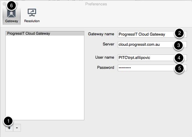 Enter Gateway Settings