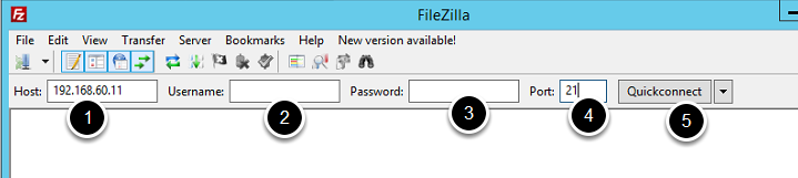 Quick Note: Open FileZilla