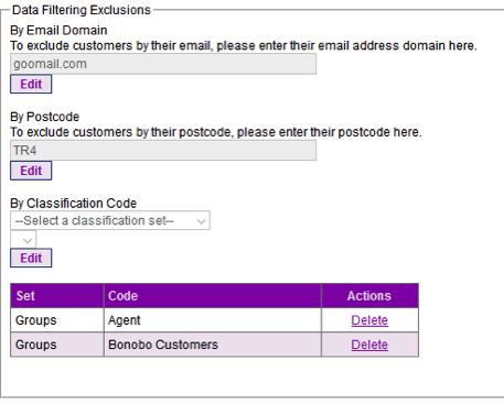Step 4. Data Filtering Exclusions