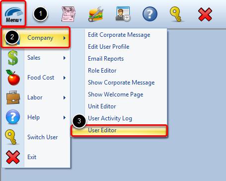 Locating the User Editor