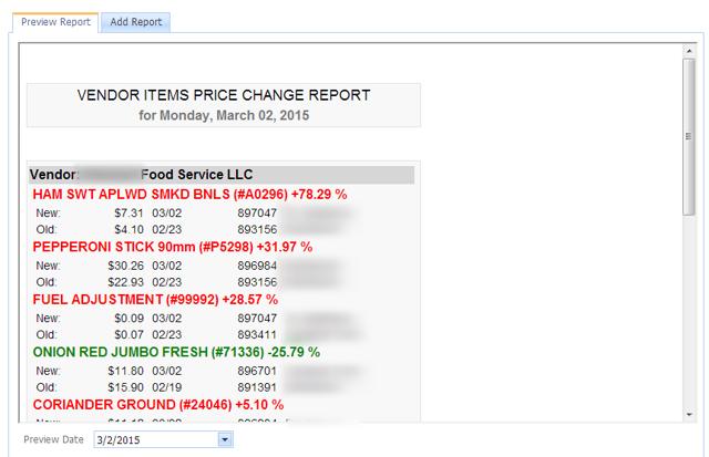 Vendor Item Price Changes-Handheld