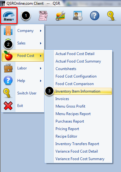 Accessing Inventory Information Report