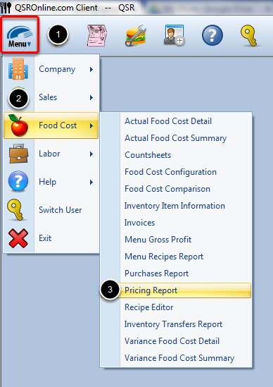 Accessing Pricing Report