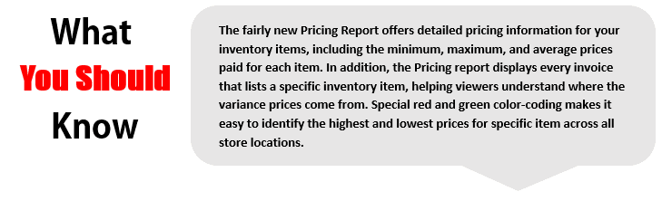 Pricing Report