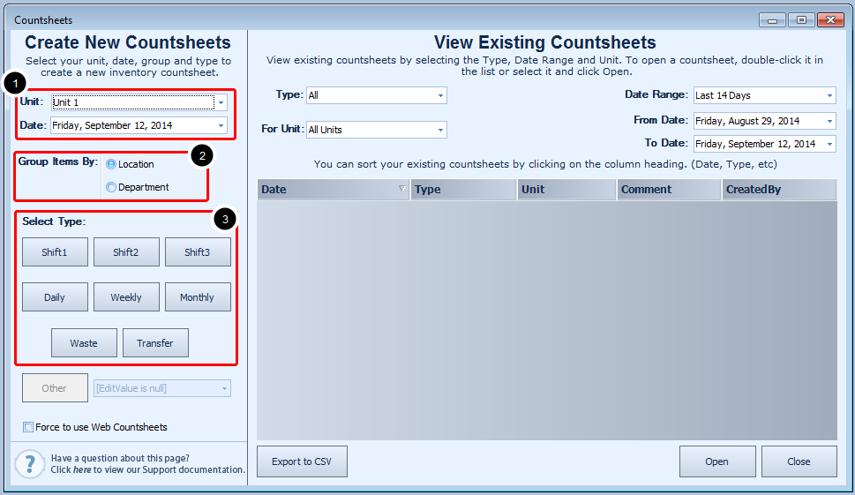Creating a Counthseet