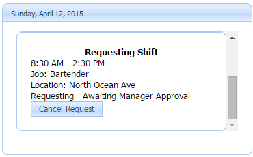Adding Requested Shift to your Calendar