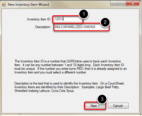 Creating Inventory Item ID and Description