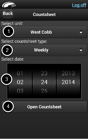 Opening Mobile Countsheets