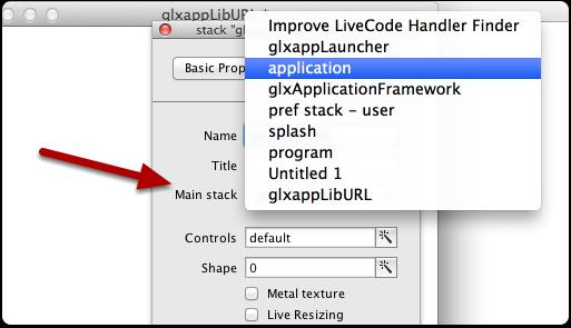 "Make a substack of ""application"" stack"