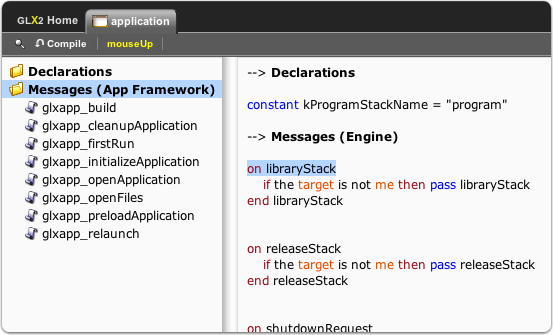 The 'application' Stack Script