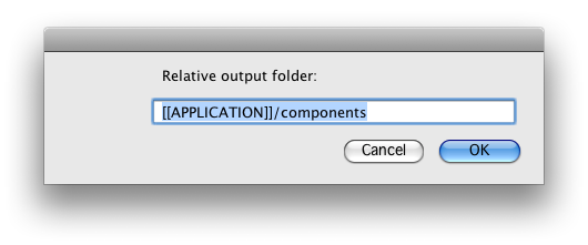 Set Output Folder