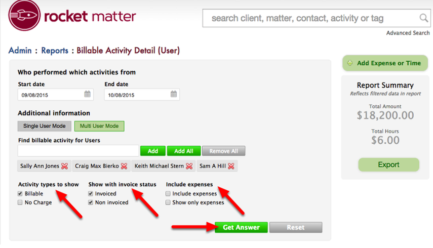 "5.  Select checkboxes if you wish to change additional default settings.  Click ""Get Answer""."
