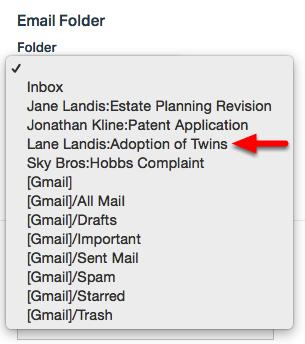 3. Select Email Folder.