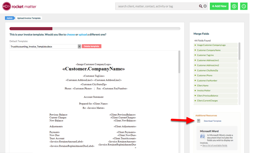 """2. Click """"Download Template"""" to download the template appearing in the display window."""