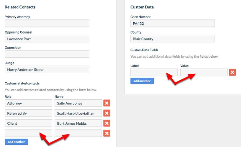 5. Enter custom info.