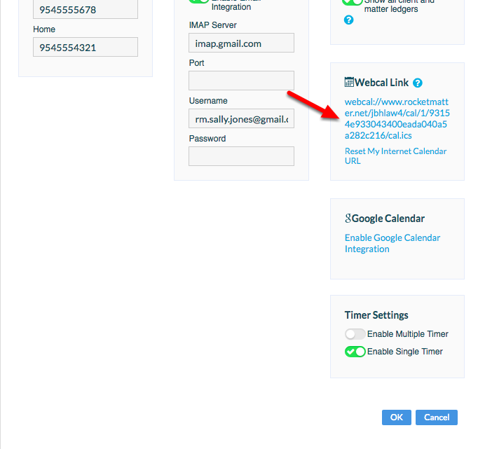 """3. Capture your """"Webcal Link"""" so you can paste/feed it into your External Calendar."""