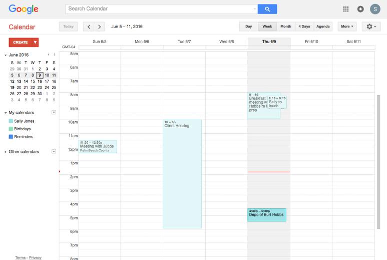 b. Navigate to Google Calendar