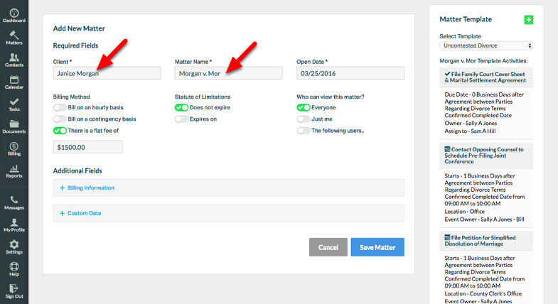 5.  Fill in Required Fields, and edit pre-populated fields as needed.