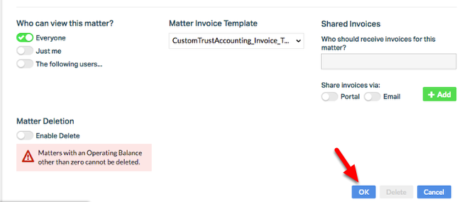 """3. Click """"OK"""" to set your Invoice Template."""