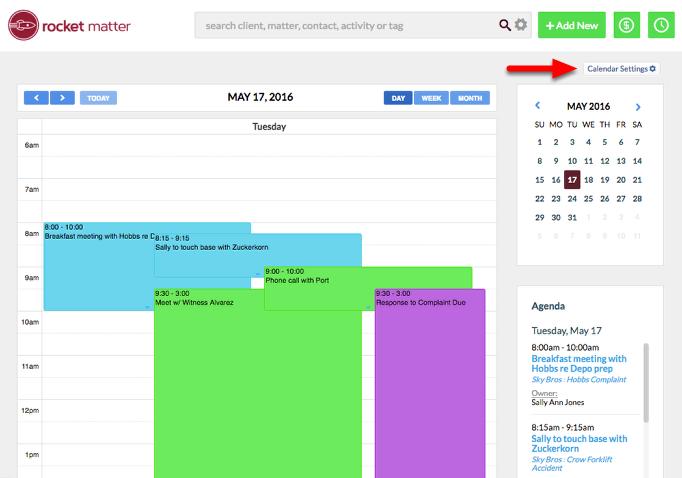 "2. Click on ""Calendar Settings""."