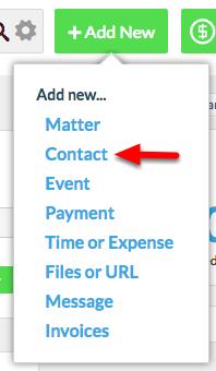 "2. Select ""Contact""."