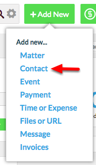"2.  Select ""Contact""."