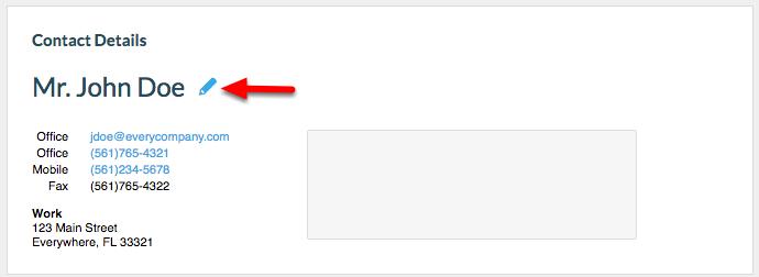 2. Click the 'Pencil' icon.