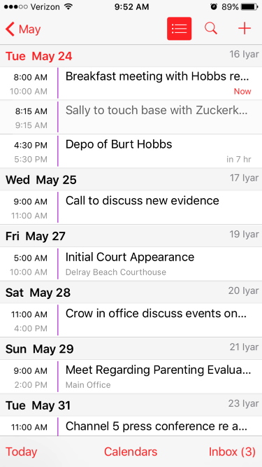 9. View your Rocket Matter events on iCal!