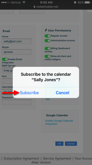 "7.  Select ""Subscribe"" when you are prompted."