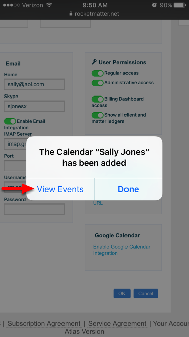 "8.  Select ""View Events""."