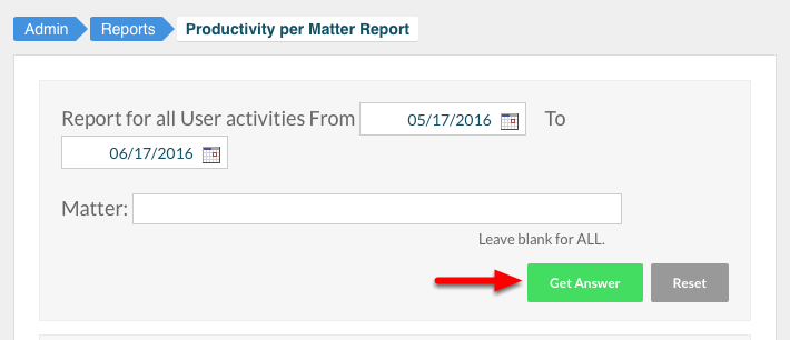 """4. Click """"Get Answer"""" to run report."""