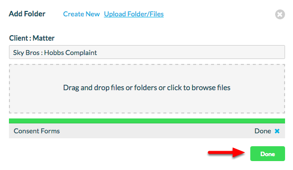"""6. After the Folder is uploaded, click """"Done""""."""