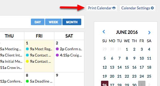 """3. Click """"Print Calendar""""."""