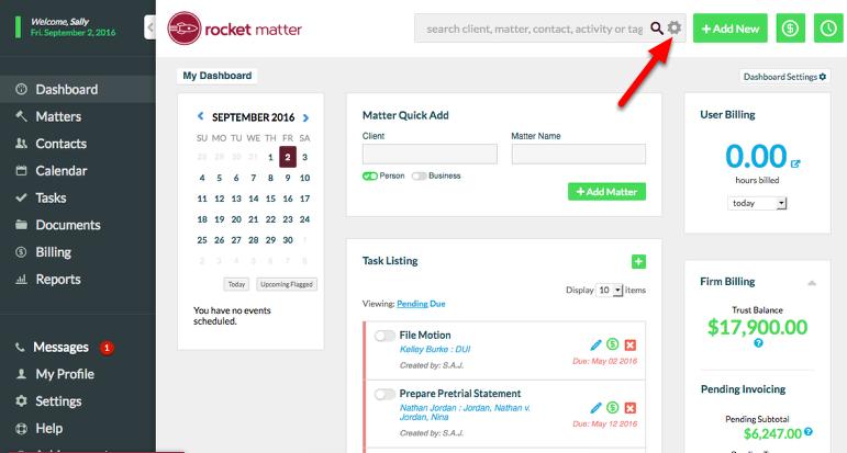 3a. Click the gear icon to access Advanced Search.
