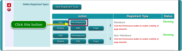 Repeat Permissions for each Registrant Type