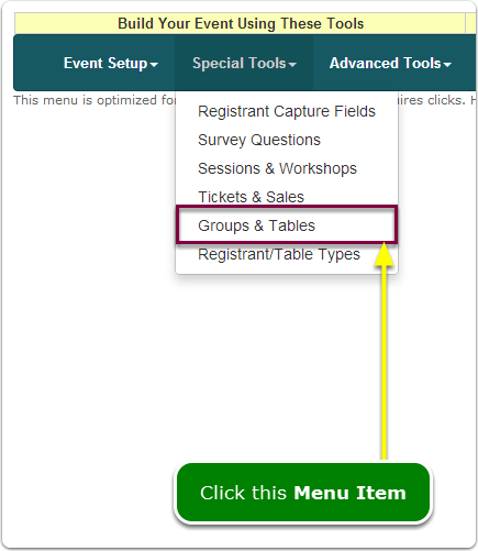 If Menus, your Registrant Types tool is located here ...