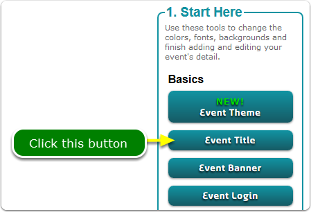 If Buttons, your Event URL tool is located here ...