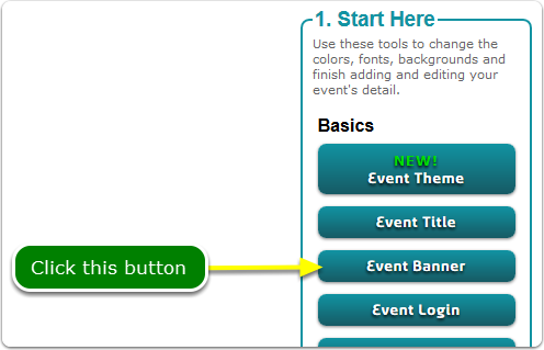 If Buttons, your Banner tool is located here ...