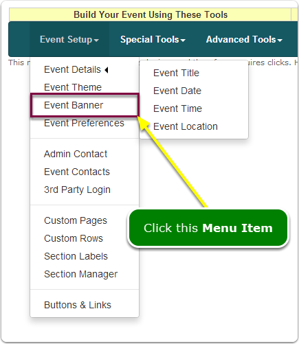 If Menus, your Banner tool is located here ...