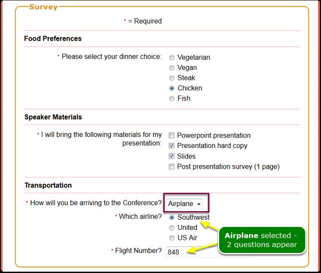 Choose the Airplane response